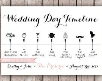 Aangepaste bruiloft tijdlijn van ARoseGoldLifePaperCo op Etsy