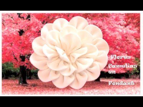 DIY Flores camelias en fondant DIY fondant flowers camellias