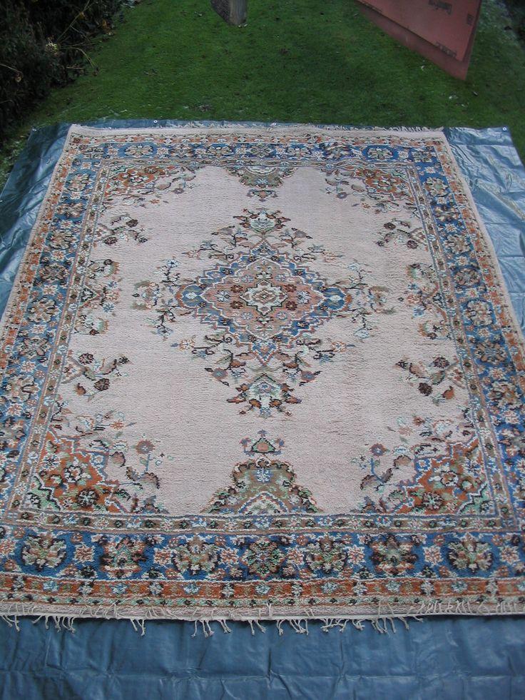 Large Blue, Beige and Orange Turkish rug carpet 340 cm x 275 cm - for sale on Ebay