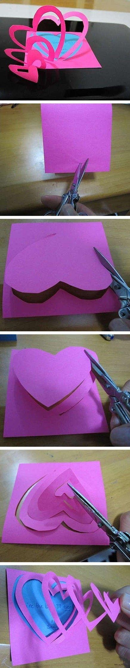 手工作品——————心裡話 make a personal greeting card they will remember!