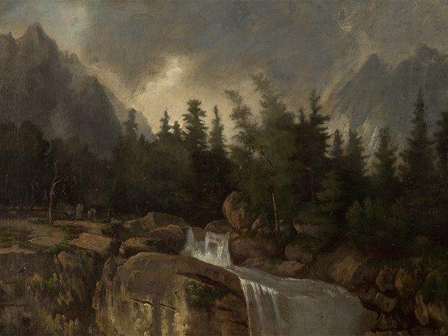 Károly Telepy (1828-1906), Mountainscape, 1900