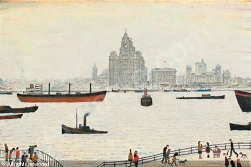 Lowry: my favourite painting of the waterfront, Pier Head, Liverpool. I have this as my desk top.