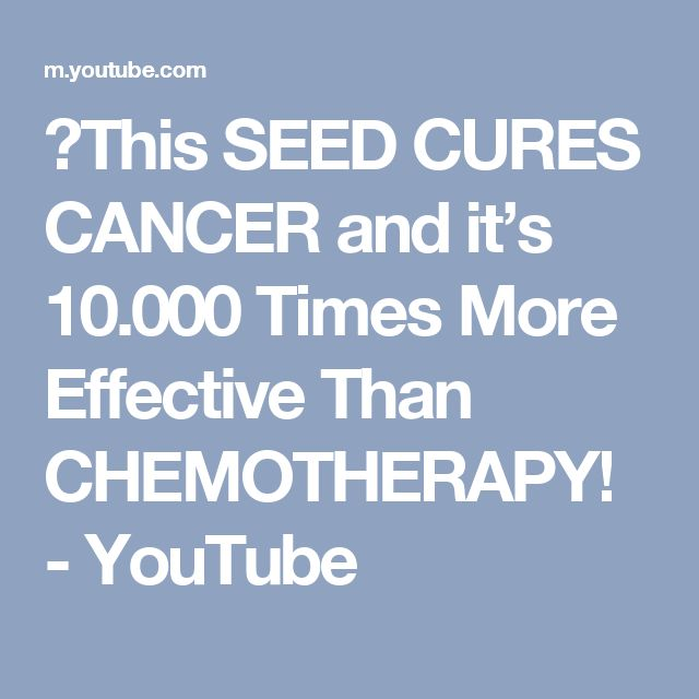 》This SEED CURES CANCER and it's 10.000 Times More Effective Than CHEMOTHERAPY! - YouTube