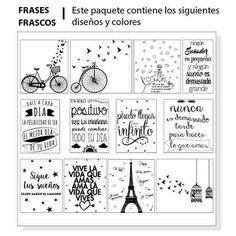 Etiquetas Para Frascos, Frases, Vinilo Transparente