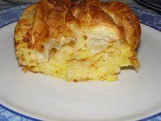 Τυρόπιτα τσαλακωμένη ή Πατσαβουρόπιτα ή Τυρόπιτα Σουφλέ | e-Συνταγόκοσμος