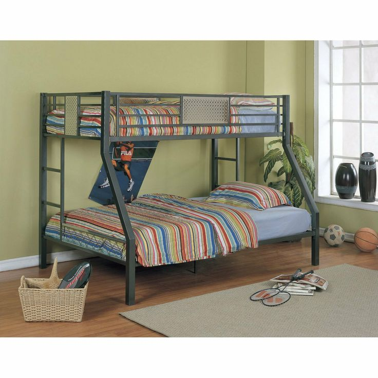 two beds in the space for one this bunk includes a twin size upper bunk and full size bed underneath