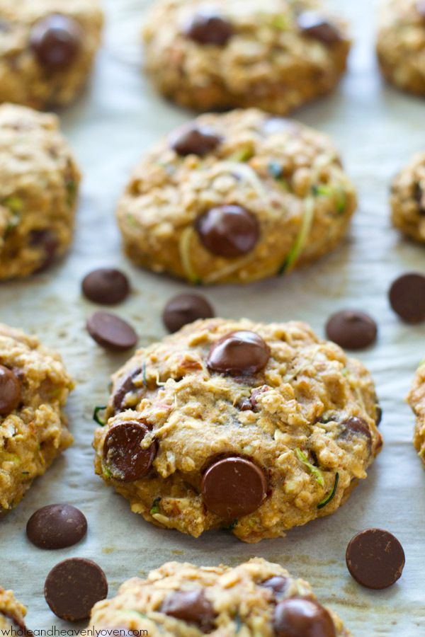 Healthy Zucchini Oat Breakfast Cookies |  Breakfast cookies are a marriage that answers every child's craving for sweets to start the day. Moist delicious cookies are packed with so much good stuff that they are not only delectable, they are downright healthy eating! Plus there is chocolate. You have to love that.