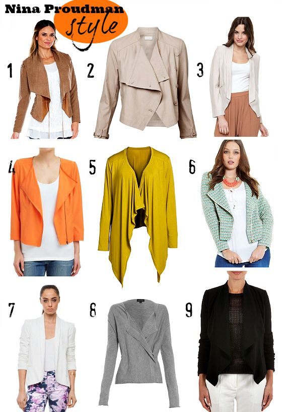 9 Nina Proudman draped jacket shopping suggestions
