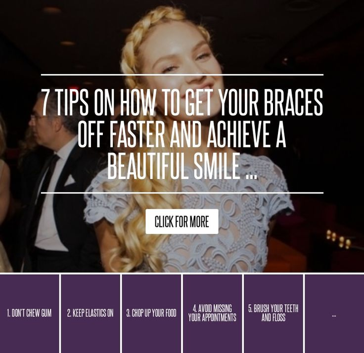 7. Don't Bite down on Your Teeth - 7 Tips on How to Get Your Braces off Faster and Achieve a Beautiful Smile ... → Health