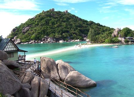samui, thailand- 3rd largest island in thailand. I would move there tomorrow if hubby would say he is in. We loved it there.