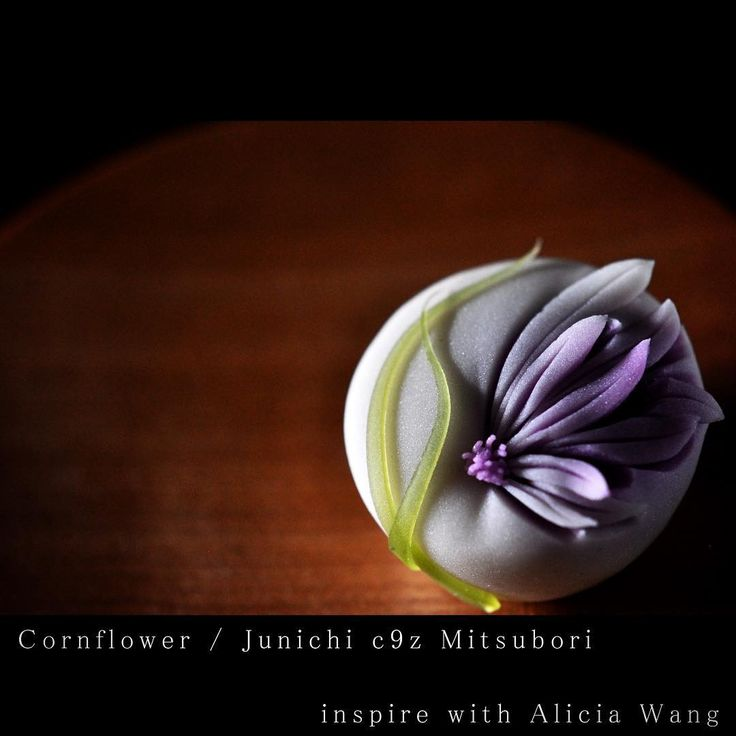 "626 Likes, 26 Comments - junichi mitsubori (@junichi_mitsubori) on Instagram: ""一日一菓 「矢車菊」 煉切 製 wagashi of the day ""Cornflower"" 本日は矢車菊です。…"""