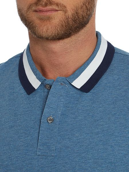 Henley Long Sleeve Slim Fit Tee, T-Shirt à Manches Longues Homme, Bleu (Navy Blazer 416), LargeTommy Hilfiger
