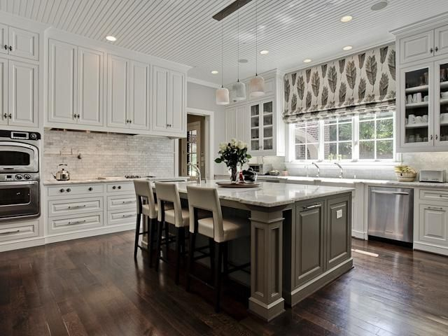 Grey backsplash white kitchen grey island neutral for White kitchen cabinets what color backsplash