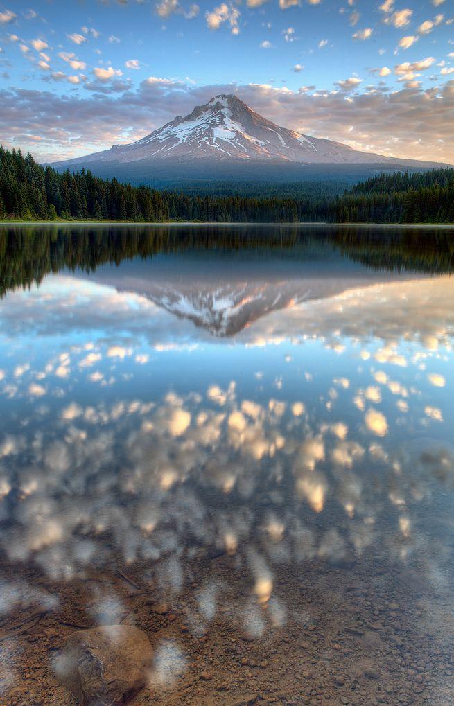 Trillium Lake. Mount Hood. Oregon.  $17 a night for a camping spot.