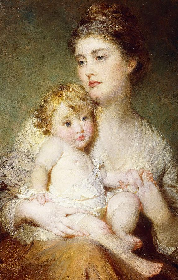 Portrait Of The Duchess Of St Albans With Her Son Painting: