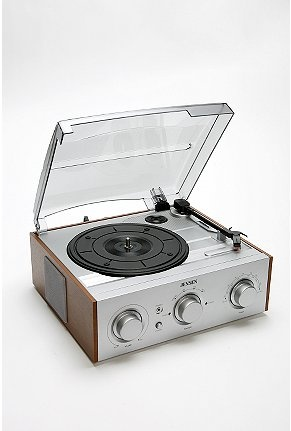 This looks almost identical to the turntable I had in college! Everything old becomes new again I guess. :-)  Oh wait...that means I'm old.   :-(: Old Records Players, Design Homes, Urban Outfitters, Jensen Wooden, Jensen Woods, Woods Turntable, Wooden Records, Modern Homes, Vinyls Records
