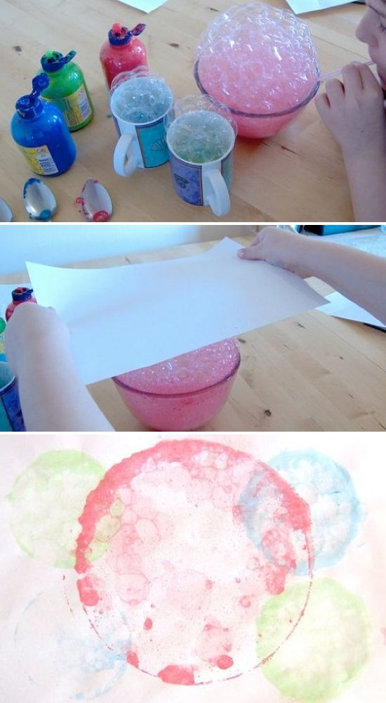 Painting with bubbles - what kid wouldn't love this?