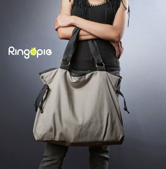 SaleReady To ShipRingopie Everyday Canvas Tote by ringopie on Etsy, $48.00