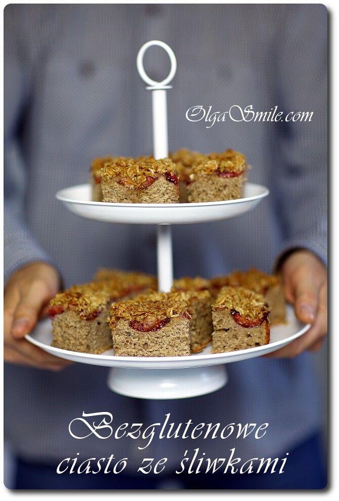 Bezglutenowe ciasto ze śliwkami - przepis Olgi Smile