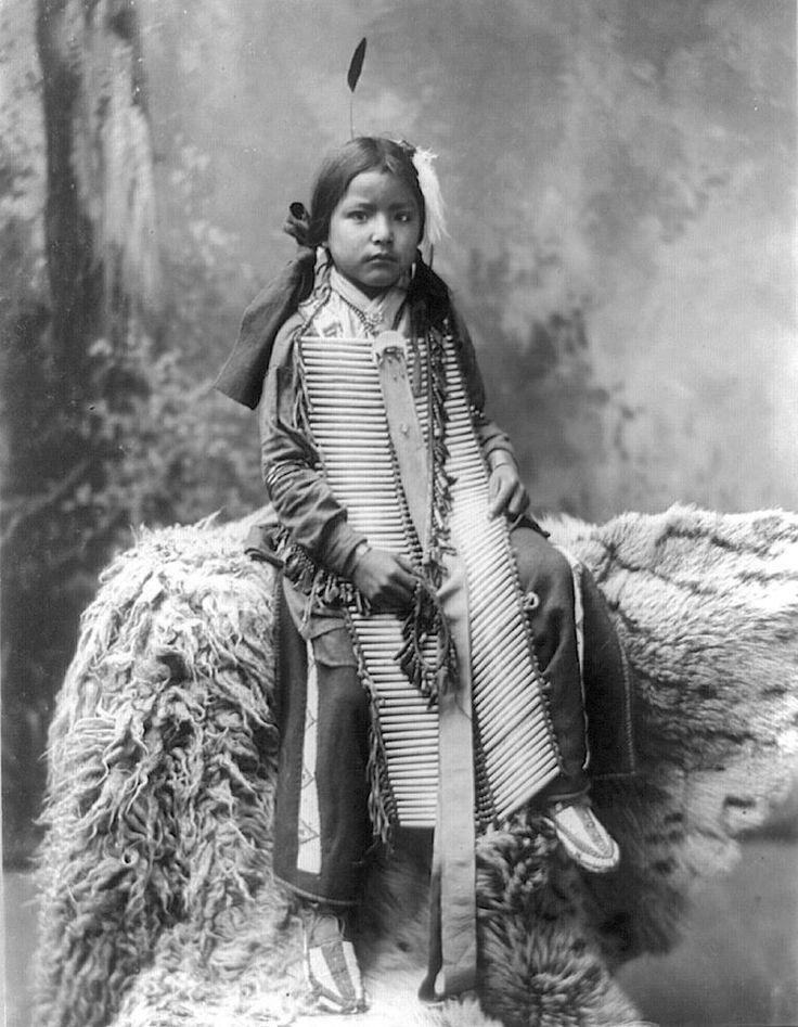 Battle in the Woods. Lakota. 1899. Photo by Heyn Photo.