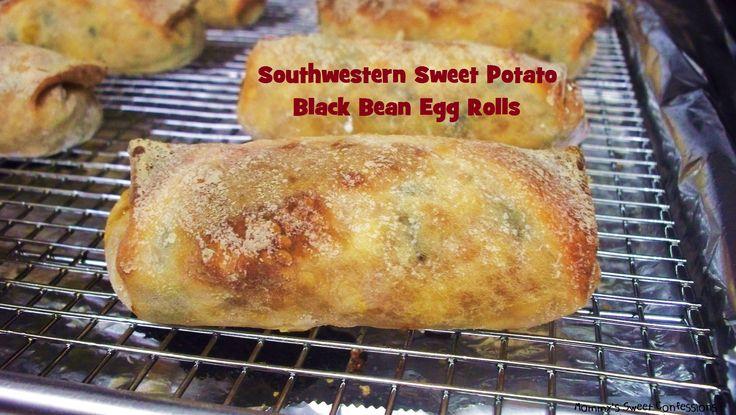 Southwestern Sweet Potato Black Bean Egg Rolls