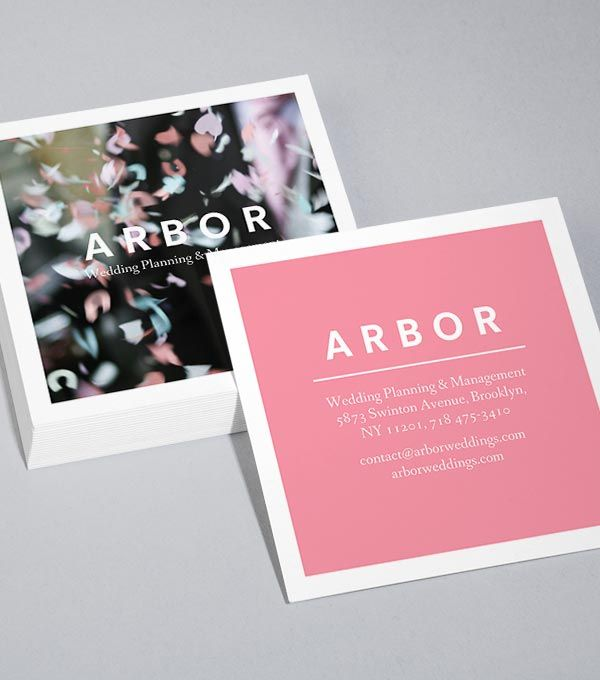 Designs für quadratische Visitenkarten - Arbor More