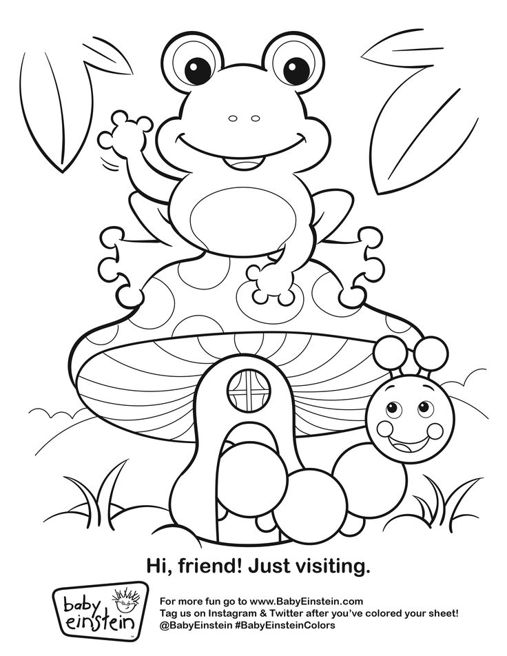Entertain Your Kiddos With This Baby Einstein Coloring Sheet