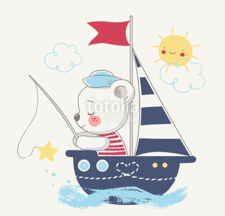 Картинки мишки с корабликами