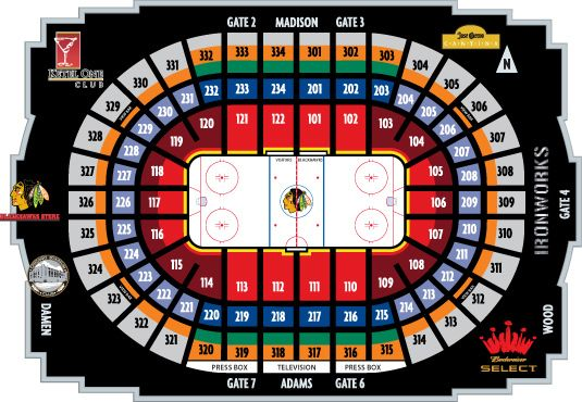 Seating and Pricing Chart - Chicago Blackhawks - Tickets