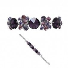Purple mix diamante crystal sparkly prom bracelet