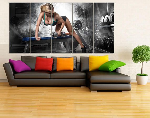 Best 25+ Gym decor ideas on Pinterest   Basement gym, Gym ...
