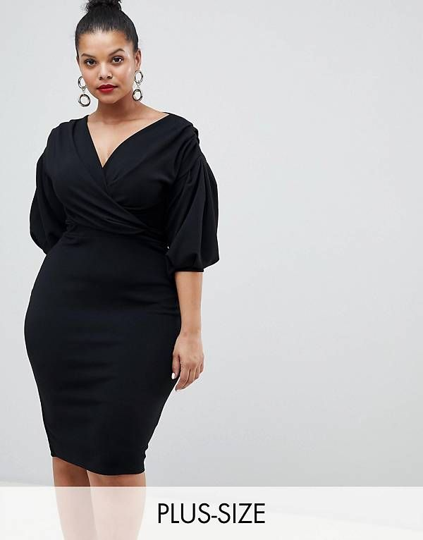 0508ea3f0b7b Boohoo Plus Off The Shoulder Wrap Dress | The Business Owner in 2019 ...
