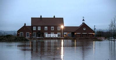 Flooding in Moorland on the Somerset Levels. Photo from Channel 4 Facebook post.