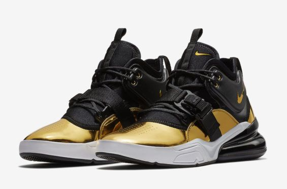 pretty nice fe427 371b2 Nike s new Air Force 270 QS Think 16  Gold Standard  is the stellar  second-to-last release in their  Art of a Champion  collection for