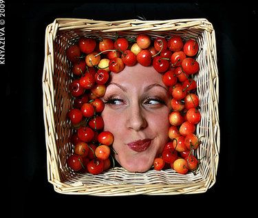 "Saatchi Art Artist Masha Knyazeva-Trotzky; , ""Cherry"" #art"