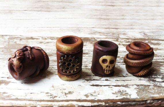 Eidechse-Dreadlock-Perlen 10mm von Feythcrafts auf Etsy
