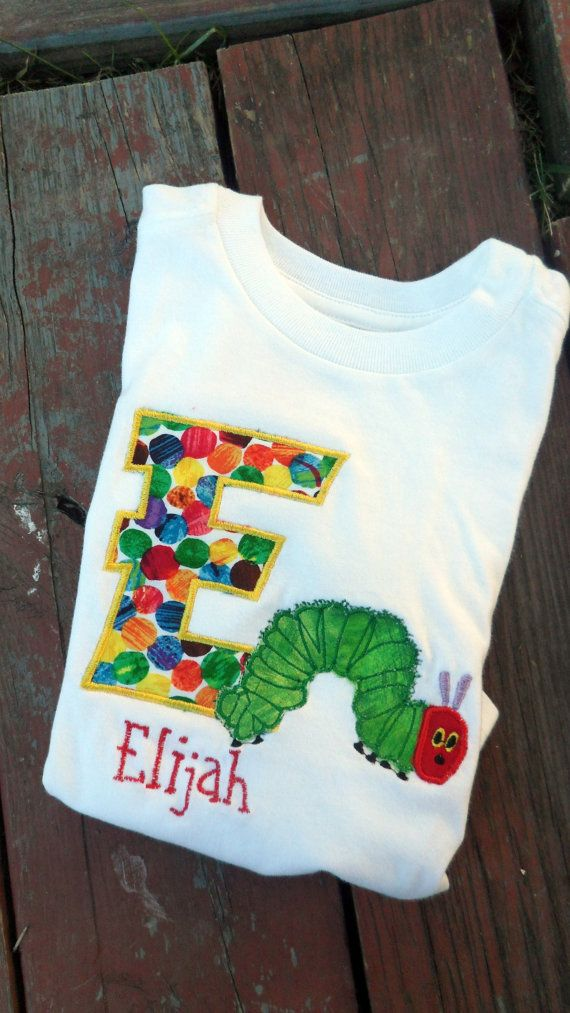 ORIGINAL Very Hungry Caterpillar dot number / letter by MunskerRoo, $24.50