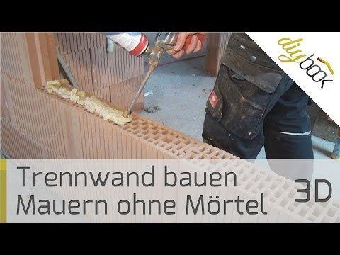 Trennwand bauen: Das Mauern ohne Mörtel - Anleitung @ diybook.at