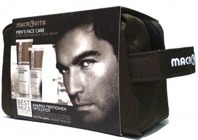 Macrovita Men's Face Care Ανδρική Περιποίηση Προσώπου After Shave100ml + Ενυδατική Κρέμα Προσώπου 50ml +Αφρός Ξυρίσματος+Νεσεσερ. Μάθετε περισσότερα ΕΔΩ: https://www.pharm24.gr/index.php?main_page=product_info&products_id=8129