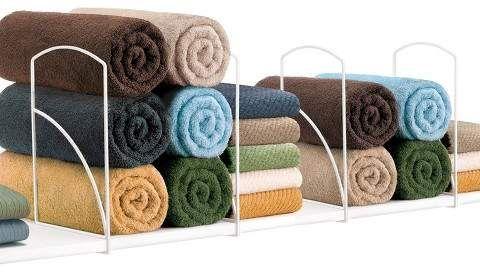 Lynk Tall Shelf Dividers (Set of 4) - Closet Shelf Organizer - White #ad #storage #organization #closet #functional #home #ideas