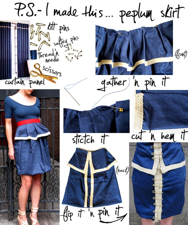 Peplum Skirt | 12 Perfectly Summery DIY Projects To Try Right Now
