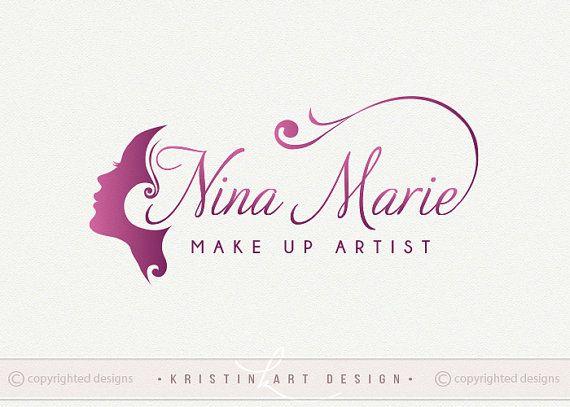 Make up logo design beauty logo cosmatics logo purple logo sophisticated modern logo design 522