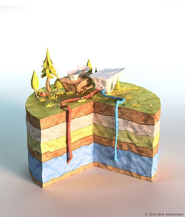 Power Giants / lowpoly paperworld on Behance