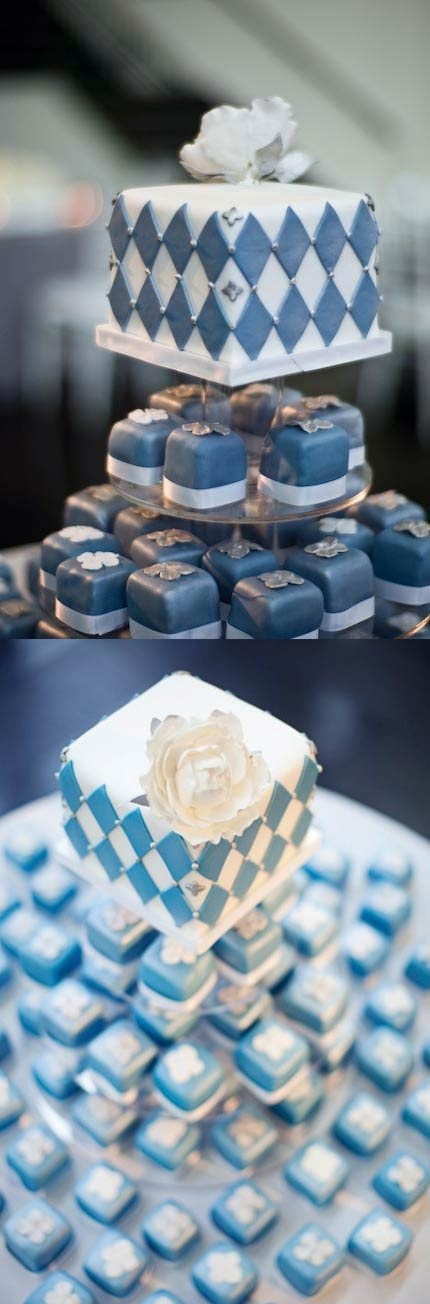 Square Blue  #wedding cupcakes ... Wedding ideas for brides, grooms, parents  planners ... https://itunes.apple.com/us/app/the-gold-wedding-planner/id498112599?ls=1=8 … plus how to organise an entire wedding ♥ The Gold Wedding Planner iPhone App ♥