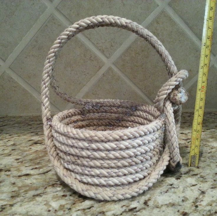 Rope Basket Flower Girl Western Easter Cowboy Wedding Ring Bearer Lariat
