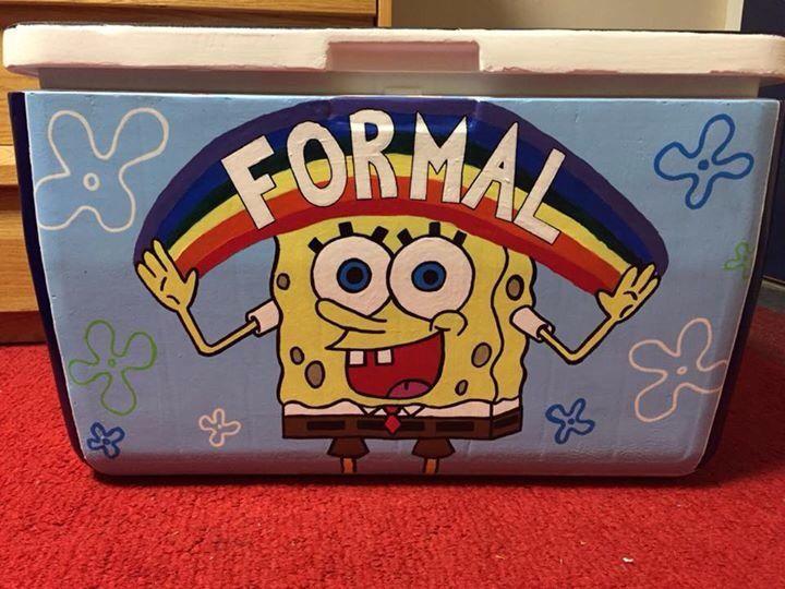 spongebob formal cooler
