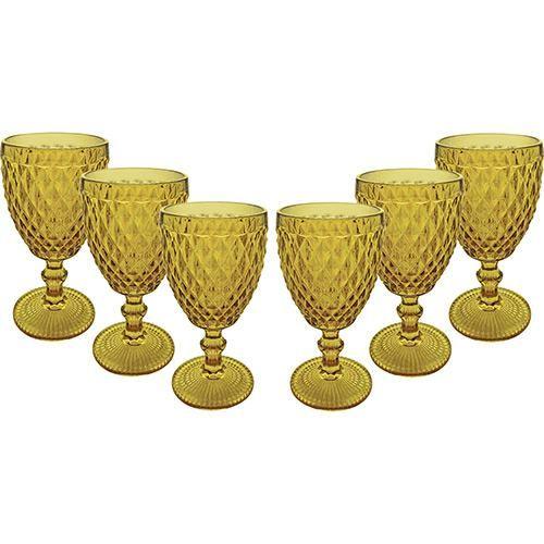 Jogo de Taças para Água Âmbar Verre com 6 - Shoptime.com
