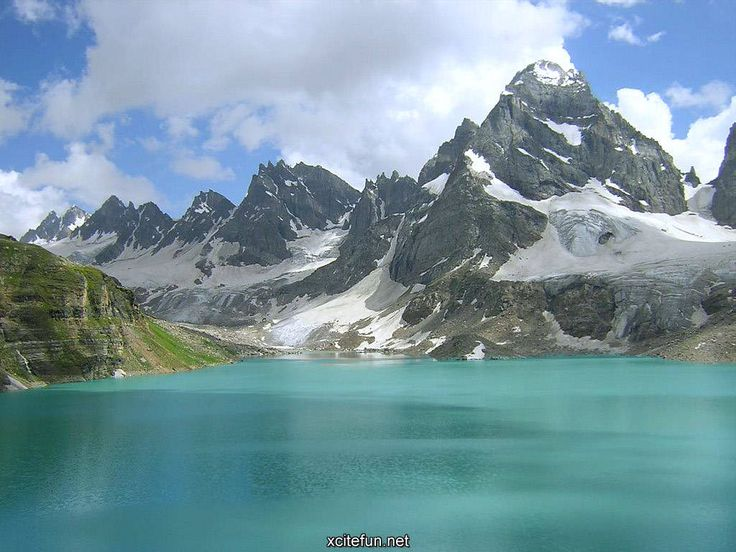 The Chitta Katha Lake is a lake in Azad Kashmir, Pakistan in the Shonter Valley.  It is located at an altitude of 3,800 meters (12,467 ft).