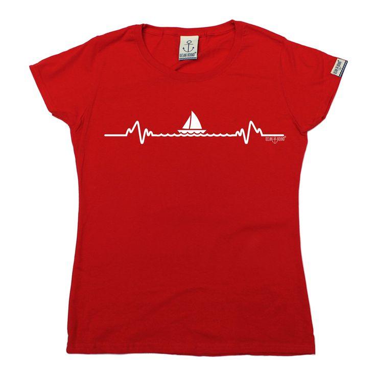 Ocean Bound Women's Sailing Pulse Design Sailing T-Shirt