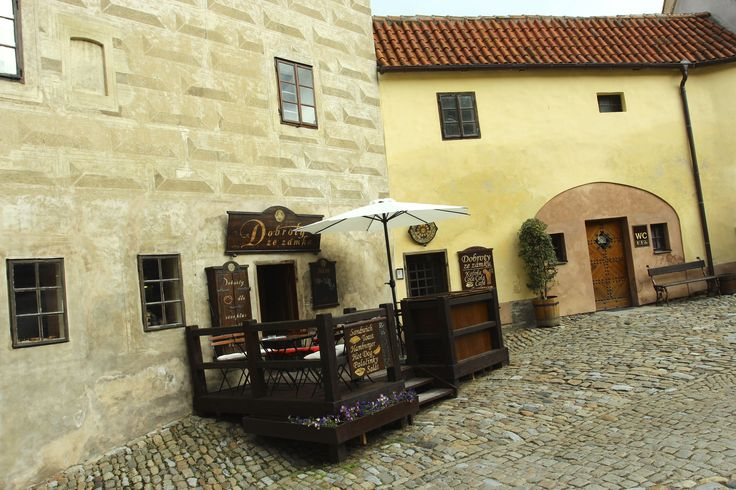 The small cafes, serving amazing bohemian food inside Cesky Krumlov castle - May 14 2014